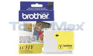BROTHER DCP-130C INK CARTRIDGE YELLOW (LC51Y)