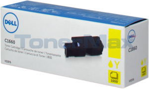 DELL C1660W TONER CARTRIDGE YELLOW (332-0402)
