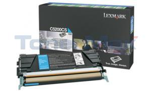 LEXMARK C520 C530 TONER CARTRIDGE CYAN RP (C5200CS)