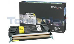 LEXMARK C520 C530 TONER CARTRIDGE YELLOW RP (C5200YS)