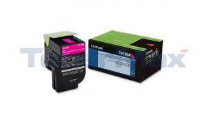 LEXMARK CS510 RP TONER CART MAGENTA 4K (70C1XM0)