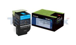 LEXMARK CS510 RP TONER CARTRIDGE CYAN 4K (70C1XC0)