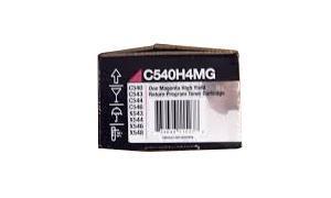 LEXMARK C54X TONER CART MAGENTA HY RP TAA (C540H4MG)