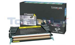 LEXMARK C734 TONER CART YELLOW RP TAA (C734A4YG)
