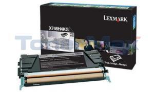 LEXMARK X748 PRINT CART BLACK HY RP TAA (X746H4KG)