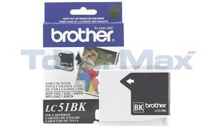 BROTHER DCP-130C INK CARTRIDGE BLACK (LC51BK)