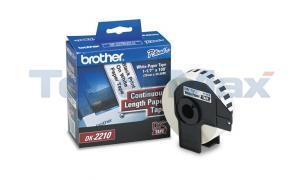 BROTHER P-TOUCH WHITE CONT. PAPER ROLL 1-1/7IN (DK2210)