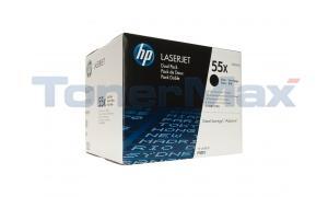 HP LASERJET P3015 TONER CARTRIDGE BLACK DUAL PACK (CE255XD)