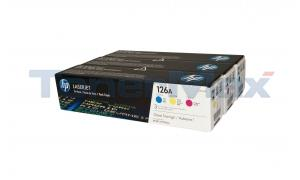 HP LASERJET 126A TONER CARTRIDGES TRI-PACK (CF341A)