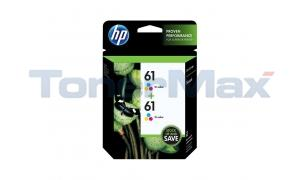 HP NO 61 INK CART TRI-COLOR TWIN-PACK (CZ074FN)
