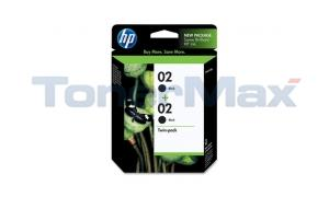 HP NO 02 INK BLACK TWIN PACK (C9500FN#140)