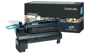 LEXMARK X792 RP PRINT CART BLACK 20K GOV (X792X4KG)