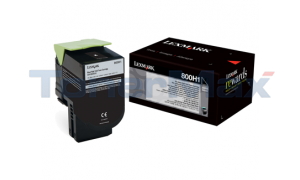 LEXMARK CX410 TONER CARTRIDGE BLACK 4K (80C0H10)