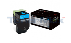 LEXMARK CX410 TONER CARTRIDGE CYAN 3K (80C0H20)