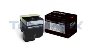 LEXMARK CS510 TONER CARTRIDGE BLACK 8K (70C0X10)