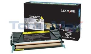 LEXMARK X746 TONER CART YELLOW 7K RP TAA (X746A4YG)