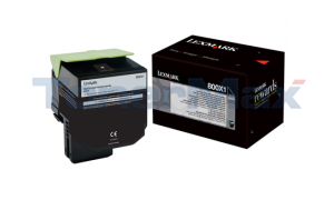 LEXMARK CX510 TONER CARTRIDGE BLACK 8K (80C0X10)