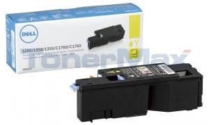 DELL 1250C 1355CN TONER CARTRIDGE YELLOW 1.4K (332-0408)