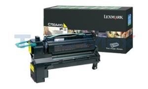 LEXMARK C792/X792 PRINT CART YELLOW RP TAA (C792A4YG)