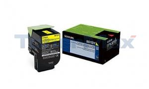 LEXMARK CX510 TONER CARTRIDGE YELLOW RP 2K (80C1SY0)