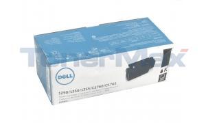 DELL 1250C TONER CARTRIDGE BLACK 2K (332-0407)