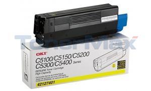 OKIDATA C5100N TONER YELLOW 5K (42127401)