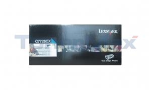 LEXMARK C770N RP TONER CARTRIDGE CYAN TAA 15K (C7726CX)