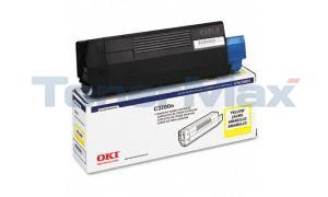 OKIDATA C3200 TONER CARTRIDGE YELLOW (43034801)