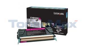 LEXMARK X748 PRINT CART MAGENTA 10K RP TAA (X748H4MG)
