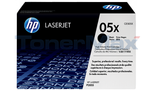 HP LASERJET P2055DN PRINT CARTRIDGE BLACK 6.5K (CE505X)