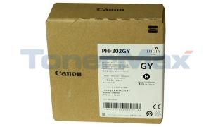 CANON PFI-302GY PIGMENT GRAY INK TANK 330ML (2217B001)