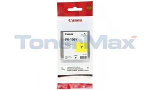 CANON PFI-106Y IMAGEPROGRAF IPF6300 INK YELLOW 130ML (6624B001)