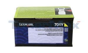 LEXMARK CS410 RP TONER CART YELLOW 1K (70C10Y0)