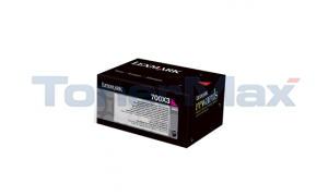 LEXMARK CS510 TONER CARTRIDGE MAGENTA 4K (70C0X30)