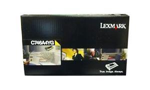 LEXMARK C746 RP TONER CART YELLOW 7K TAA (C746A4YG)